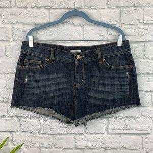 SO Frayed Edge Denim Shorts Size 15